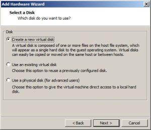 Add Virtual Disk